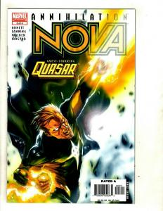 Lot Of 8 NOVA Marvel Comic Books # 1 2 3 4 (Annihilation Mini) + # 4 5 6 7 SM8