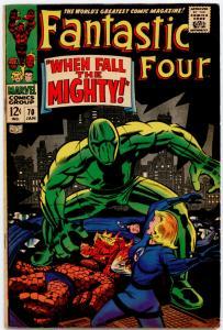 Fantastic Four #70 VG+ 4.5  Crystal (Inhumans)