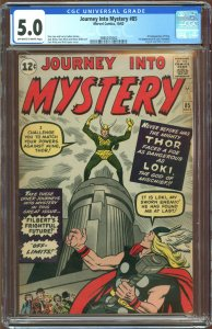 Journey into Mystery #85 (1962) CGC Graded 5.0 - First appearance of Loki
