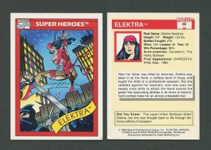 1990 Marvel Comics Card  #49  (Elektra)  EXMT/NM