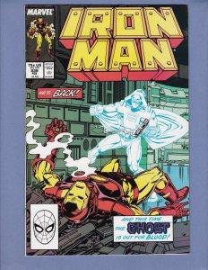 Iron Man #239 VF/NM Justin Hammer Marvel 1989