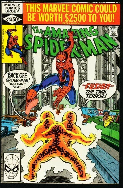 AMAZING SPIDER-MAN #208-1980-MARVEL-fine FN