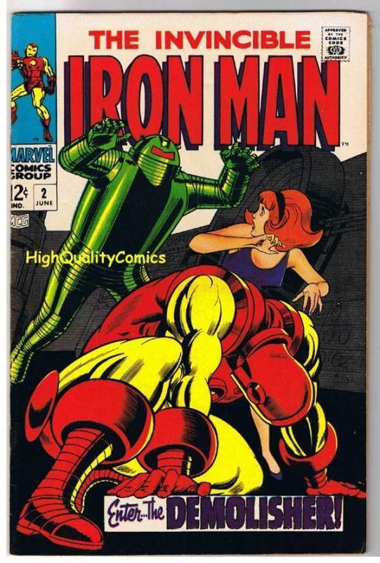 IRON MAN #2, VF/NM, Tony Stark, Demolisher Robot, 1968, Johnny Craig