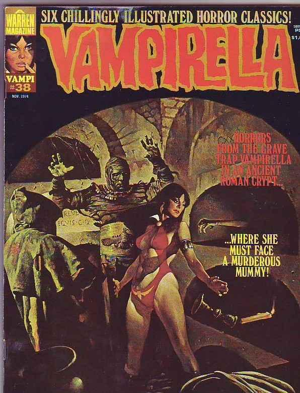 Vampirella 38 Magazine strict VF+ Dracula  Mummy 100's of Warren Mags just in