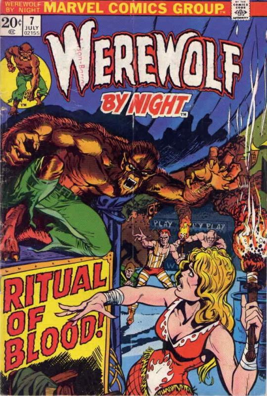 Werewolf By Night #7 FN; Marvel | save on shipping - details inside
