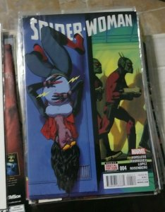 SPIDER-WOMAN  # 4 2016 MARVEL  JESSICA DREW SKRULLS BABY MS MARVEL