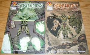 Saurians: Unnatural Selection #1-2 VF/NM complete series MARK WAID sigil comics