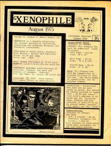 Xenophile #16 1975-top pulp collector fanzine-for sale ads-FN