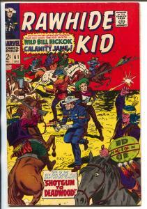 Rawhide Kid #61 1967-Marvel-Wild Bill Hickok & Calmity Jane-Dick Ayers-VF