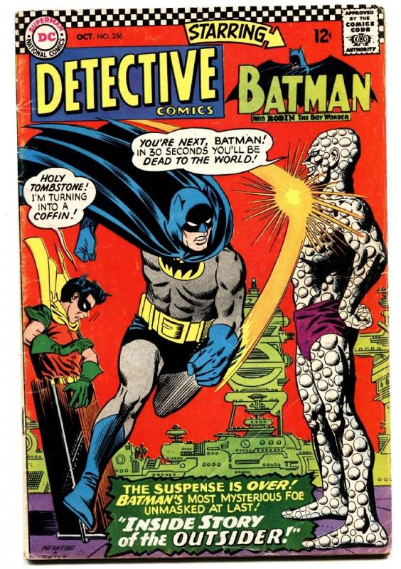 DETECTIVE  #356 comic book 1966-DC-OUTSIDER-BATMAN