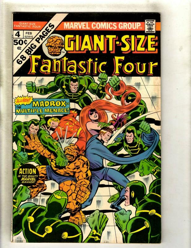 Giant-Size Fantastic Four # 4 FN Marvel Comic Book 1st Madrox Multiple Man RS1