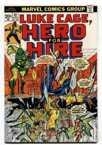 HERO FOR HIRE #12-1973-LUKE CAGE-BRONZE AGE-MARVEL vf+