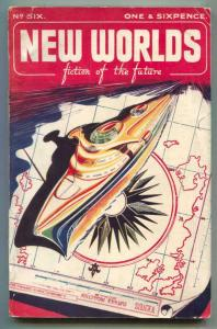 New Worlds Spring 1950- British Science Fiction Pulp