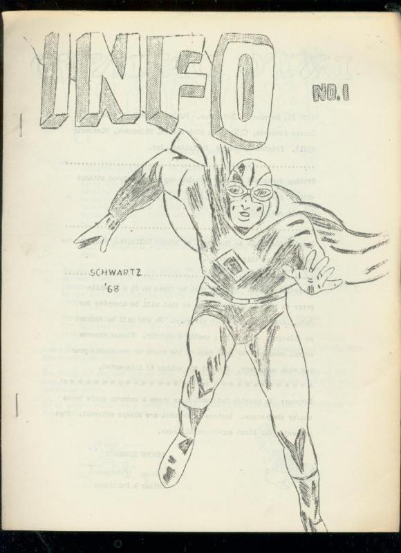 INFO FANZINE #1 1968-KRAZY KAT-SUPERMAN-BOUNCER-GOLDEN  FN