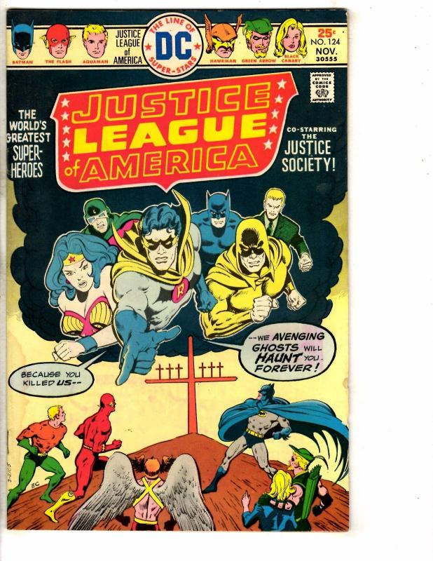 4 Justice League Of America DC Comic Books # 124 125 126 127 VG-FN Range J272