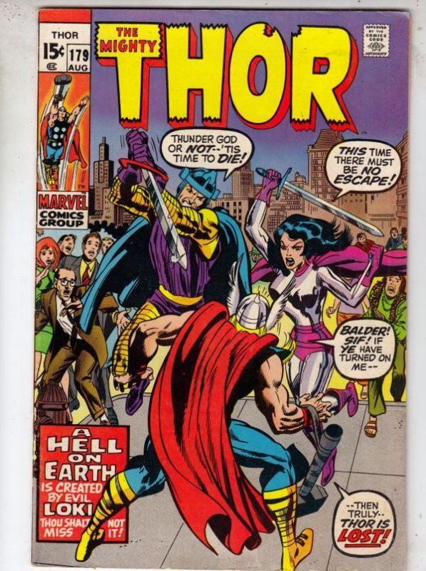 Thor 179 Mighty Thor 179 strict VF+ 8.5 High-Grade  Last Jack Kirby Issue!!