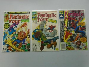Fantastic Four lot of 3 different Spider-Man appearances avg 8.0 VF
