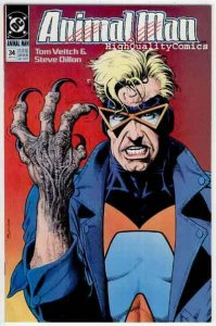 ANIMAL MAN #34, NM+, Vertigo, Steve Dillon, Tom Veitch, 1989, Brian Bolland