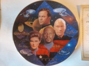 Star Trek Captains Tribute Com. Plate