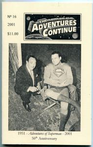 Adventure Continues fanzine #16 2001- George Reeves Superman VF/NM