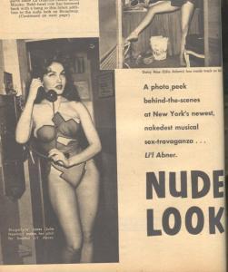 Man's Cavalcade Magazine #2 July 1957-JULIE NEWMAR-EYE INJURY Gene Fullmer