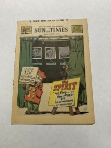 The Spirit Comic Book Section Sunday November 9 1947 Nm Near Mint