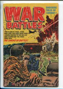 WAR BATTLES #7 1952-HARVEY-ARLINGTON CEMETERY--BOB POWELL-LEE ELIAS-vg