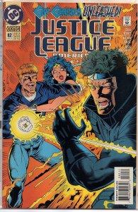 C Comics Justice League America #82 Wonder Woman, Guy Gardner, Booster Gold