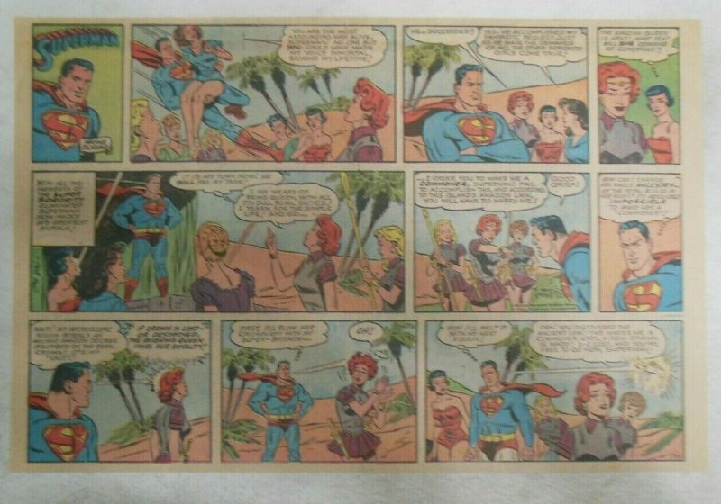 Superman Sunday Page #1135 by Wayne Boring from 7/16/1961 Size ~11 x 15 inches