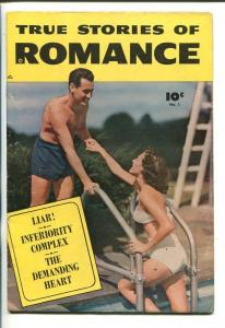 TRUE STORIES OF ROMANCE #1-1949-SWIMSUIT COVER-SOUTHERN STATES PEDIGREE-fn-