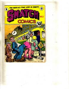 Snatch Comics # 3 1969 Underground Comix Robert Crumb Comic Book VG Mini FM3