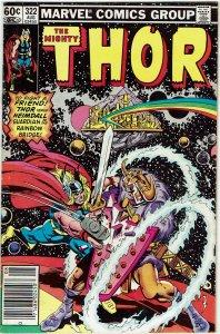 Thor #322 (1966 v1) Odin Balder Newsstand VF