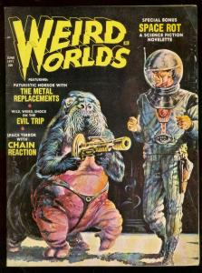 WEIRD WORLDS MAG JUNE 1971-HORROR COMICS-PULP FICTION VG