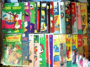 DISNEY COMIC COLLECTION - 28 books Donald Mickey Goofy Scamp and more VG-F/+