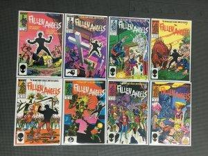 Fallen Angels 1 - 8 Complete Set Marvel Comics 1987 Comic Book Series VF+
