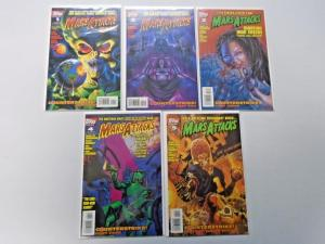 Mars Attacks run #1 to #5 Second 2nd Series 5 different books 8.0 VF (1995)