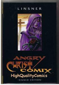 ANGRY CHRIST COMIX hc, NM+, Limited Signed & Numbered, Joseph Linsner