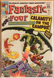 Fantastic Four #35 (1965) Very Good 4.0 - 1st Dragon Man - Stan Lee & Jack Kirby