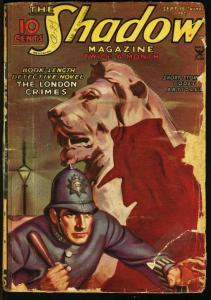 SHADOW 1935 SEP 15-STREET AND SMITH HERO PULP-RARE FR