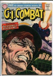 G.I. COMBAT #53 1957-DC-HAND GRENADE COVER-JOE KUBERT ART-vg
