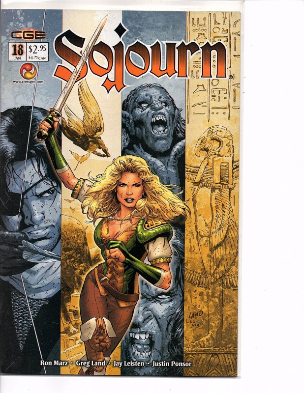 Crossgen Comics Sojourn #18 Greg Land Art Ron Marz Story