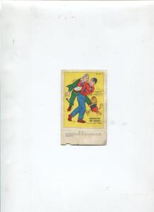CRIME BUSTER AND SQUEEKS PROMOTION CARD FROM BOY COMICS-LEV GLEASON-G/VG