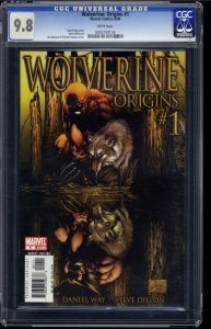 Wolverine: Origins #1 CGC NM/M 9.8 White Pages