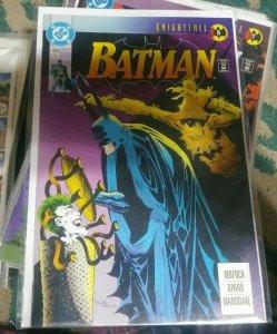 Batman #494 1991 DC COMICS KNIGHTFALL PT 5 JOKER AZREAL ROBIN GOTHAM