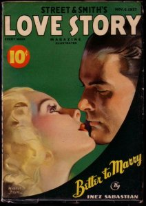 LOVE STORY PULP MAGAZINE 1937 NOV 6 ROMANCE PULP ART VF