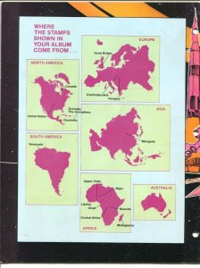 Outer Space Stamp Album 1985-USPS-space exploration-most stamps included-VG