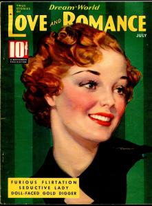 Dream World Love and Romance 7/1936-pin-up girl cover-Gloria Warren-spicy-VG