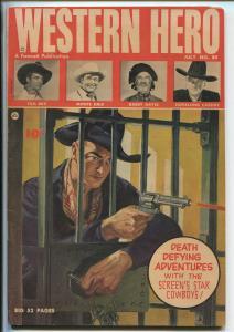 WESTERN HERO #80 1949-FAWCETT-NORMAN SAUNDERS-HOPALONG CASSIDY-TOM MIX-vf