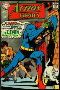 Action Comics #363 1968- Superman- Leper from Krypton- Supergirl- Luthor FN