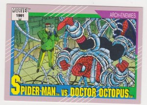 1991 Marvel Universe #105 Spider-Man vs Doctor Octopus
